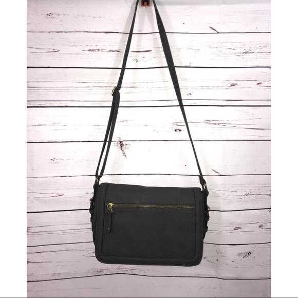 Merona Womens Dark Gray Crossbody Bag  e1a3ed4eb4cd9